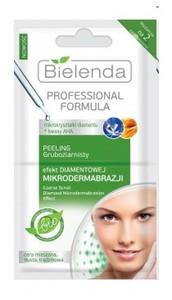 BIELENDA Professional Formula, Peeling gruboziarnisty EFEKT DIAMENTOWEJ MIKRODERMABRAZJI, 2x5g