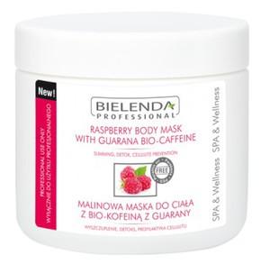BIELENDA Professional, Malinowa maska do ciała z bio-kofeiną z guarany, 600g