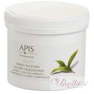 APIS Acne Stop, Maska algowa dla cery trądzikowej, tłustej i mieszanej, 250g/650 ml