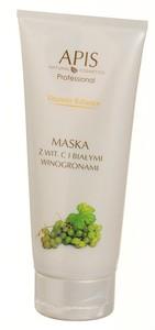 APIS Vitamin Balance, Kremowa maska witaminowa z wit.C i białymi winogronami, cera wrażliwa, naczynkowa, 200 ml