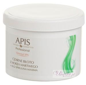 APIS Oriental SPA, Oczyszczająca, kremowa maska do ciała czarne błoto z Morza Martwego + algi Spirulina Maxima, 500g