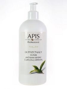 APIS Acne Stop, Oczyszczający tonik antybakteryjny z zieloną herbatą, cera tłusta, mieszana, trądzikowa, 500 ml