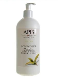 APIS Acne Stop, Oczyszczające mleczko antybakteryjne z zieloną herbatą, cera tłusta, mieszana, trądzikowa, 500 ml