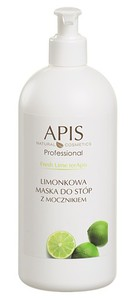 APIS Limonkowa Świeżość, Limonkowa maska do stóp z mocznikiem, 500 ml