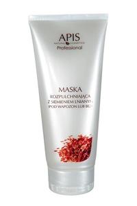 APIS Maska kremowa rozpulchniająca z siemieniem lnianym, cera wrażliwa, naczynkowa, 200 ml