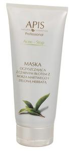 APIS Acne Stop, Kremowa maska oczyszczająca z czarnym błotem, cera tłusta, mieszana, trądzikowa, 200 ml