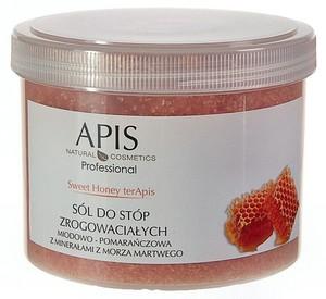 APIS Sweet Honey terApis, Sól zmiękczająca do stóp zrogowaciałych miodowo - pomarańczowa, 650g