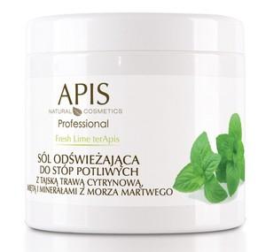 APIS Limonkowa Świeżość, Sól odświeżająca do stóp potliwych z tajską trawą cytrynową i miętą, 650 ml