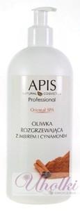 APIS Oriental SPA, Rozgrzewająca oliwka do masażu ciała z imbirem i cynamonem, 500 ml
