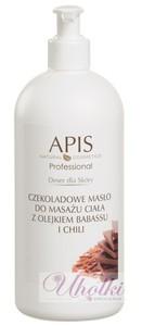 APIS Deser dla Skóry, Czekoladowe masło do ciała z olejkiem babassu i chili, redukcja cellulitu, 500 ml