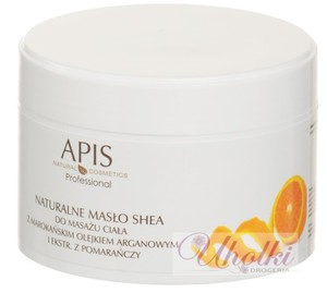 APIS Naturalne masło Shea z olejem arganowym i ekstraktem z pomarańczy, skóra sucha i bardzo sucha, 200g