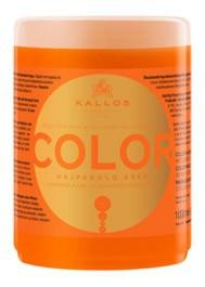 KALLOS KJMN Color, Kremowa maska z filtrem UV chroniąca kolor do każdego rodzaju włosów farbowanych, 1000 ml