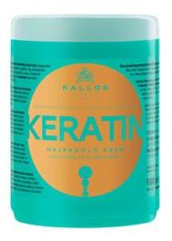 KALLOS KJMN Keratin, Maska odżywcza z keratyną do włosów suchych i zniszczonych, 1000 ml