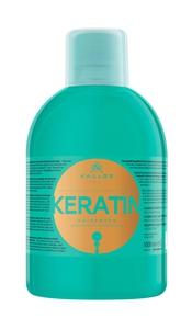 KALLOS KJMN Keratin,  Szampon odżywczy z keratyną do włosów suchych i zniszczonych, 1000 ml