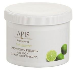 APIS Limonkowa Świeżość, Limonkowy peeling peeling do stóp z lawą wulkaniczną, 500g