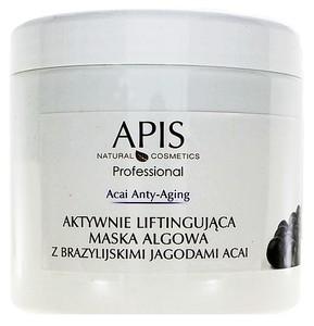 APIS Acai Anty-Aging, Aktywnie liftingująca maska algowa z brazylijskimi jagodami acai, cera wiotka bez jędrności, 250g/650 ml