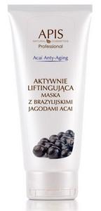 APIS Acai Anty-Aging, Aktywnie liftingująca maska kremowa  z brazylijskimi jagodami acai, cera wiotka bez jędrności, 200 ml