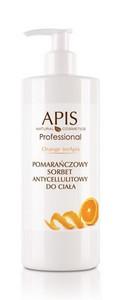 APIS Orange terApis, Pomarańczowy sorbet antycellulitowy, skóra z cellulitem, bez jędrności, 500 ml