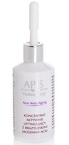 APIS Acai Anty-Aging, Koncentrat aktywnie liftingujący z brazylijskimi jagodami acai, cera dojrzała, 30 ml