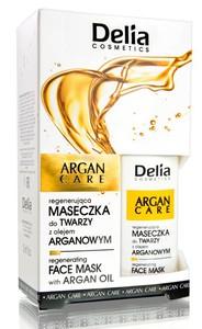 DELIA Argan Care, Regenerująca maseczka do twarzy z olejem arganowym, 30 ml