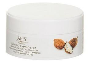 APIS Naturalne masło Shea z olejem arganowym do masażu twarzy, cera bardzo sucha, 100g