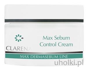 CLARENA Max Sebum Control Cream, Krem normalizująco-matujący, cera  tłusta, mieszana, trądzikowa, 50 ml