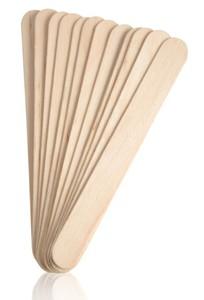 Drewniana szpatułka do wosku, 100 szt.