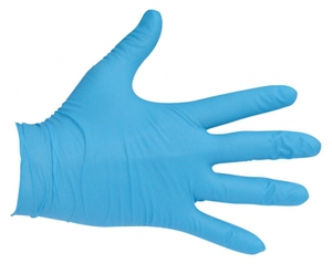 Rękawiczki ochronne nitrylowe bezpudrowe, rozmiar M, 100 szt.