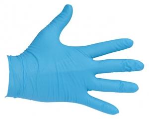 Rękawiczki ochronne nitrylowe bezpudrowe, rozmiar S, 100 szt.