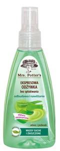 MRS. POTTERS, Odżywka ekspresowa nawilżająca  Aloes i Jedwab, włosy suche i zniszczone, 200 ml