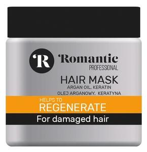 ROMANTIC Professional Regenerate, Maska regenerująca z olejem arganowym, włosy suche i zniszczone, 500 ml