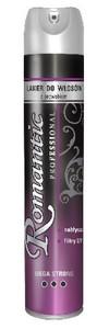 ROMANTIC Professional, Lakier nabłyszczający do stylizacji włosów Mega Strong, 300 ml