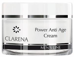 CLARENA Men Power Anti Age Cream, Krem przeciwzmarszczkowy dla mężczyzn, 50 ml
