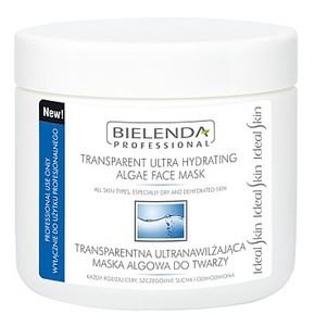 BIELENDA Professional, Transparentna ultranawilżająca maska algowa do twarzy, cera sucha i odwodniona, 170g/450 ml