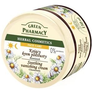 GREEN PHARMACY, Kojący krem półtłusty Rumianek, cera normalna, sucha i wrażliwa, 150 ml
