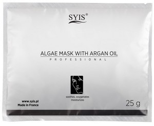 SYIS Peel - Off Shaker Mask, Maska algowa z olejkiem arganowym, cera dojrzała, wrażliwa, 25 g