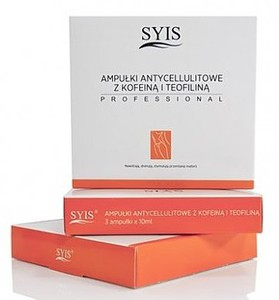 SYIS Sliming Line Serum, Ampułki Antycellulitowe z Kofeiną i Teofiliną, 3x10 ml