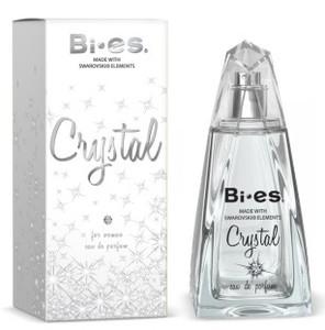 BI-ES Crystal EDP, Damska woda perfumowana, linia owocowo - kwiatowa, 100 ml