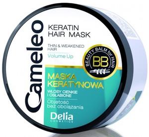 DELIA Cameleo, Maska keratynowa z olejem macadamia, włosy cienkie, delikatne, przesuszone, 200 ml