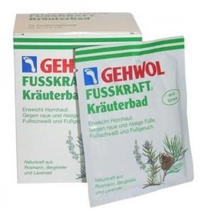 GEHWOL Fusskraft Krauterbad, Sól ziołowa do kąpieli stóp, 10x20 g