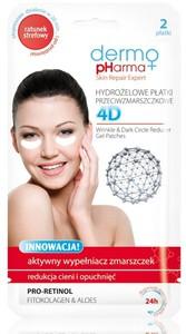 DERMO PHARMA 4D, Hydrożelowe płatki pod oczy przeciwzmarszczkowe, 2 szt