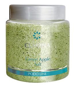 CLARENA Green Apple Salt, Sól do kąpieli stóp z zielonym jabłkiem, 250g