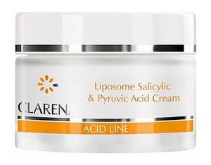 CLARENA Liposome Salycilic & Pyruvic Acid Cream, Krem przeciwtrądzikowy z kwasem pirogronowym i salicylowym, 50 ml