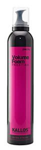 KALLOS  Prestige Volume Foam Extra Strong, Ekstra mocna pianka do włosów zwiększająca objętość, 300 ml