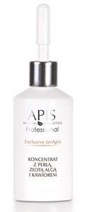 APIS Exclusive terApis, Koncentrat do twarzy z perłą, złotą algą i kawiorem, cera dojrzała, 30 ml