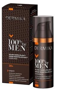 DERMIKA 100% Men 30+, Silnie nawilżający krem rewitalizujący na dzień i noc, 50ml