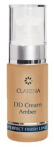 CLARENA DD Cream, Lekki podkład rozświetlający Amber, cera sucha i dojrzała, 30 ml
