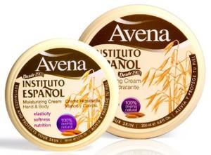 INSTITUTO ESPANOL Avena, Nawilżający krem do ciała i rąk  z 100% wyciągiem z owsa, 50 ml