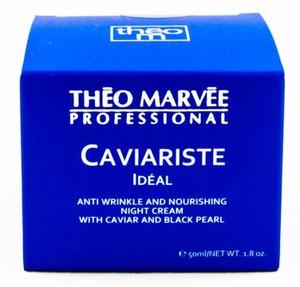 THEO MARVEE Caviariste Ideal Night Cream, Przeciwzmarszczkowy krem z kawiorem i perłą na noc, 50 ml
