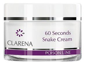 CLARENA 60 Seconds Snake Cream, Liftingujący krem z jadem węża, cera dojrzała, 50 ml